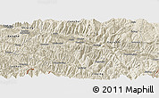 Shaded Relief Panoramic Map of Yuanyang