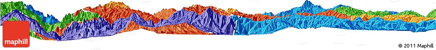 Political Horizon Map of Yunlong