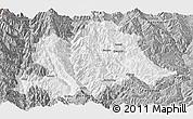 Gray Panoramic Map of Yunlong