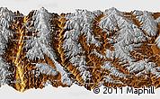 Physical Panoramic Map of Yunlong