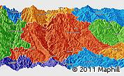 Political Panoramic Map of Yunlong