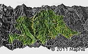 Satellite Panoramic Map of Yunlong, desaturated
