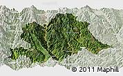 Satellite Panoramic Map of Yunlong, lighten