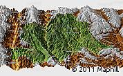 Satellite Panoramic Map of Yunlong, physical outside