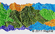 Satellite Panoramic Map of Yunlong, political outside