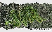 Satellite Panoramic Map of Yunlong, semi-desaturated