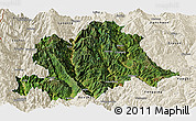 Satellite Panoramic Map of Yunlong, shaded relief outside