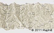 Shaded Relief Panoramic Map of Yunlong