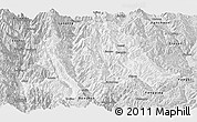 Silver Style Panoramic Map of Yunlong