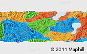 Political Panoramic Map of Yuxi