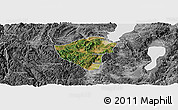 Satellite Panoramic Map of Yuxi, desaturated