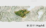 Satellite Panoramic Map of Yuxi, lighten