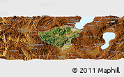 Satellite Panoramic Map of Yuxi, physical outside