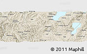 Shaded Relief Panoramic Map of Yuxi