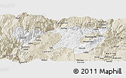 Classic Style Panoramic Map of Zhaotong