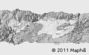 Gray Panoramic Map of Zhaotong