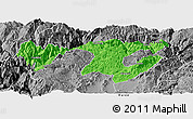 Political Panoramic Map of Zhaotong, desaturated
