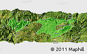 Political Panoramic Map of Zhaotong, satellite outside