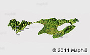 Satellite Panoramic Map of Zhaotong, cropped outside