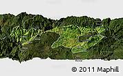 Satellite Panoramic Map of Zhaotong, darken