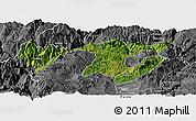 Satellite Panoramic Map of Zhaotong, desaturated