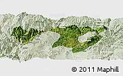 Satellite Panoramic Map of Zhaotong, lighten