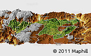 Satellite Panoramic Map of Zhaotong, physical outside