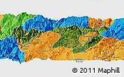 Satellite Panoramic Map of Zhaotong, political outside