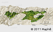 Satellite Panoramic Map of Zhaotong, shaded relief outside