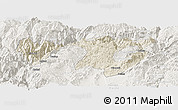 Shaded Relief Panoramic Map of Zhaotong, lighten