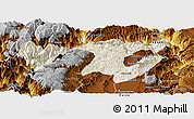Shaded Relief Panoramic Map of Zhaotong, physical outside