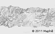 Silver Style Panoramic Map of Zhaotong