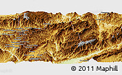 Physical Panoramic Map of Zhenkang