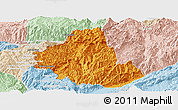 Political Panoramic Map of Zhenkang, lighten