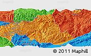 Political Panoramic Map of Zhenkang