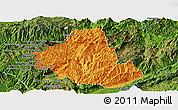 Political Panoramic Map of Zhenkang, satellite outside