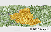 Savanna Style Panoramic Map of Zhenkang