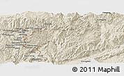 Shaded Relief Panoramic Map of Zhenkang