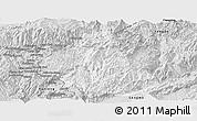Silver Style Panoramic Map of Zhenkang