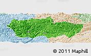Political Panoramic Map of Zhenxiong, lighten