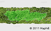 Political Panoramic Map of Zhenxiong, satellite outside
