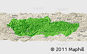 Political Panoramic Map of Zhenxiong, shaded relief outside