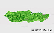 Political Panoramic Map of Zhenxiong, single color outside