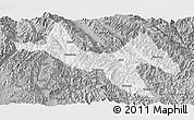 Gray Panoramic Map of Zhenyuan