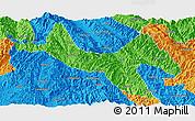 Political Panoramic Map of Zhenyuan