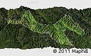 Satellite Panoramic Map of Zhenyuan, darken