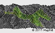 Satellite Panoramic Map of Zhenyuan, desaturated