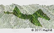 Satellite Panoramic Map of Zhenyuan, lighten