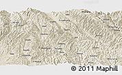Shaded Relief Panoramic Map of Zhenyuan