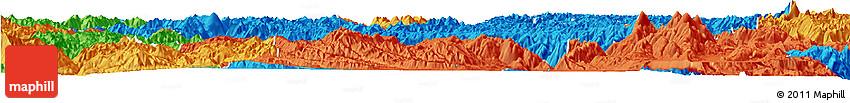 Political Horizon Map of Zhongdian